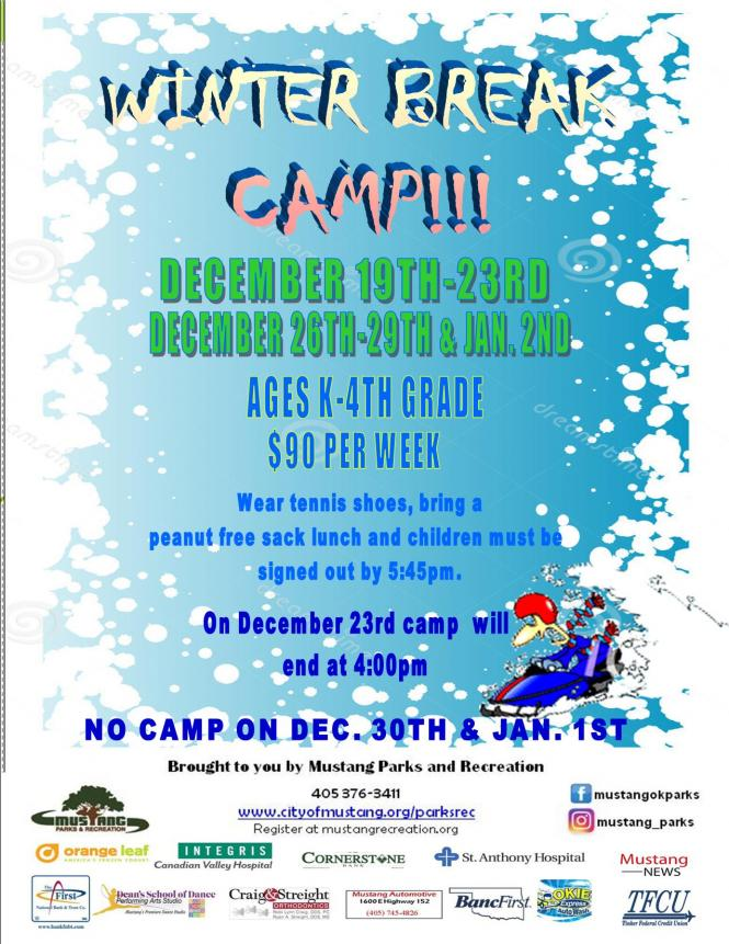 Winter break camp closes at 4pm city of mustang oklahoma winter break camp closes at 4pm stopboris Images